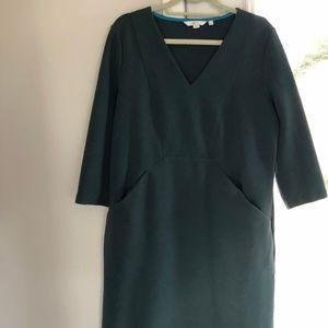 Boden forest green dress